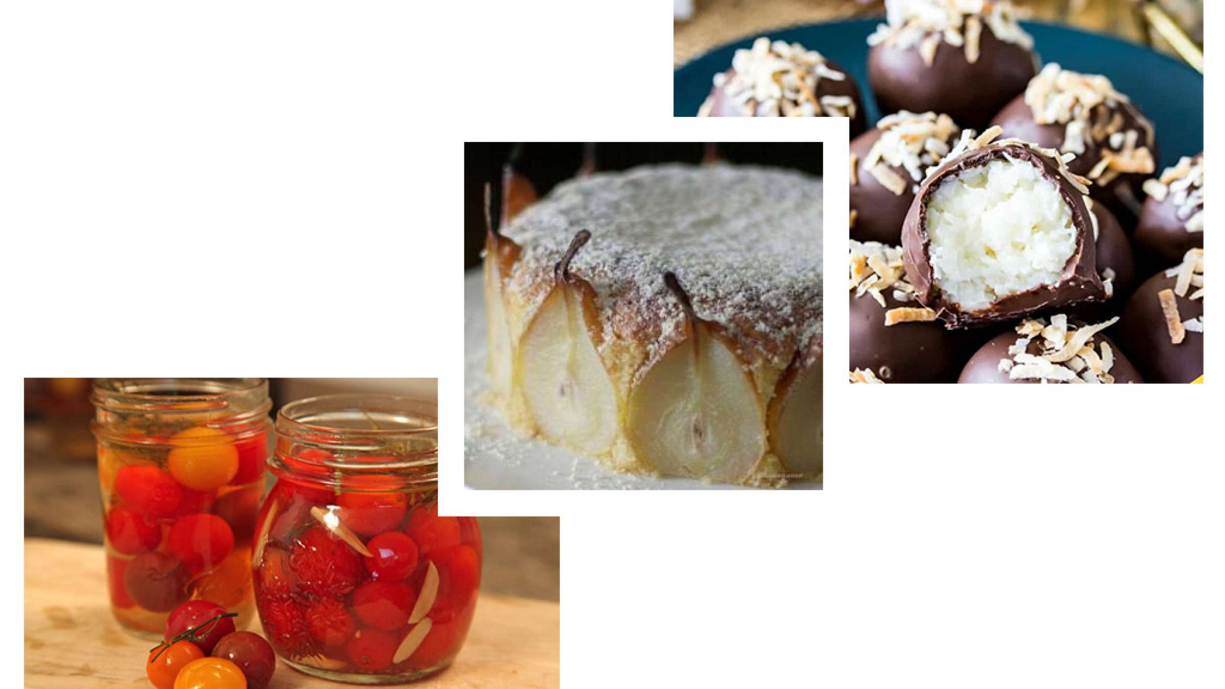 آشپزی-ترابی-ترافل-نارگیلی-شکلاتی-کیک-گلابی-گوجه-شور