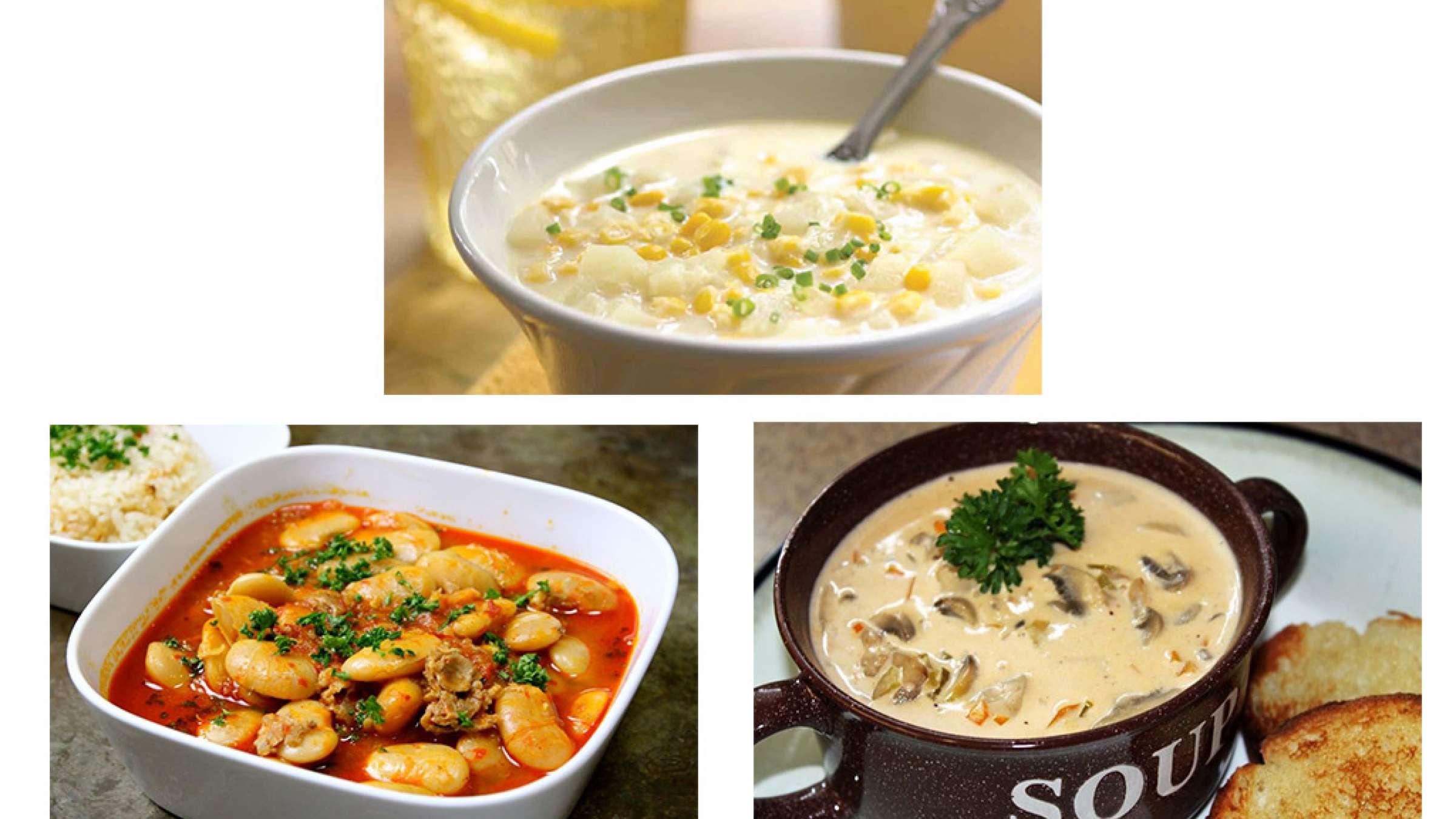 آشپزی-ترابی-سالاد-ذرت-رول-بافته-دارچینی-حلیم-فاصولیه-سوپ-قارچ-کتلت-ماهی