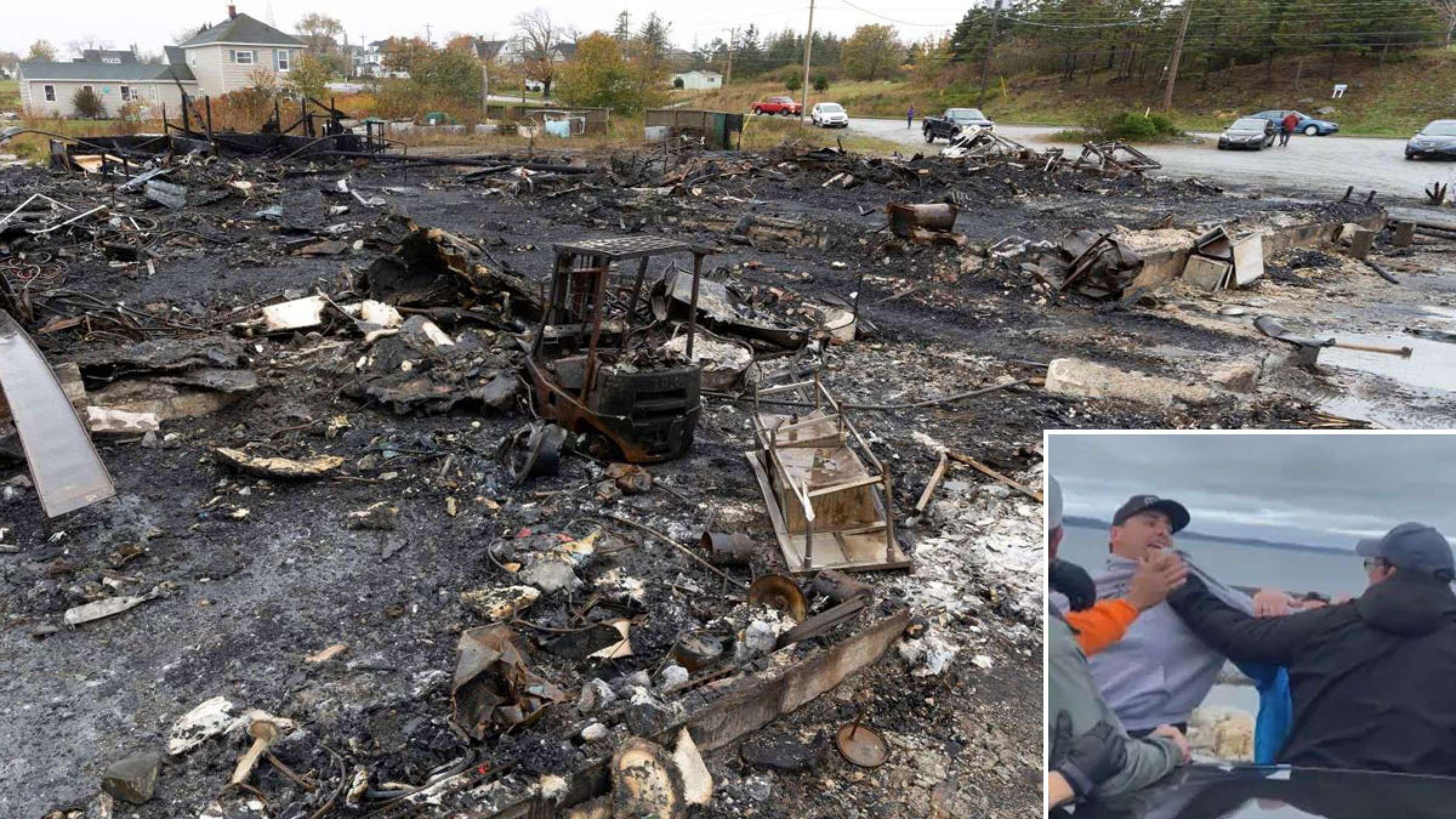 اخبار-کانادا-درگیری-شدید-بومیان-با-صیادان-خرچنگ-به-آتش-زدن-کارخانه-و-کمک-از-ارتش-و-پلیس-کشید
