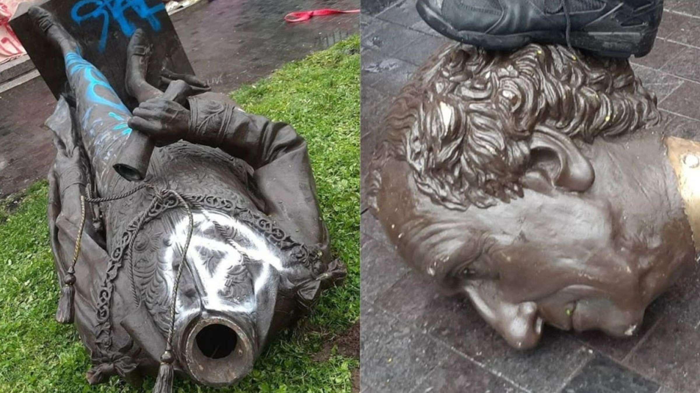 اخبار-کانادا-سرنگونی-مجسمه-مک-دونالد-در-مونترال-جیسون-کنی-به-من-بدهید-تا-نصبش-کنم