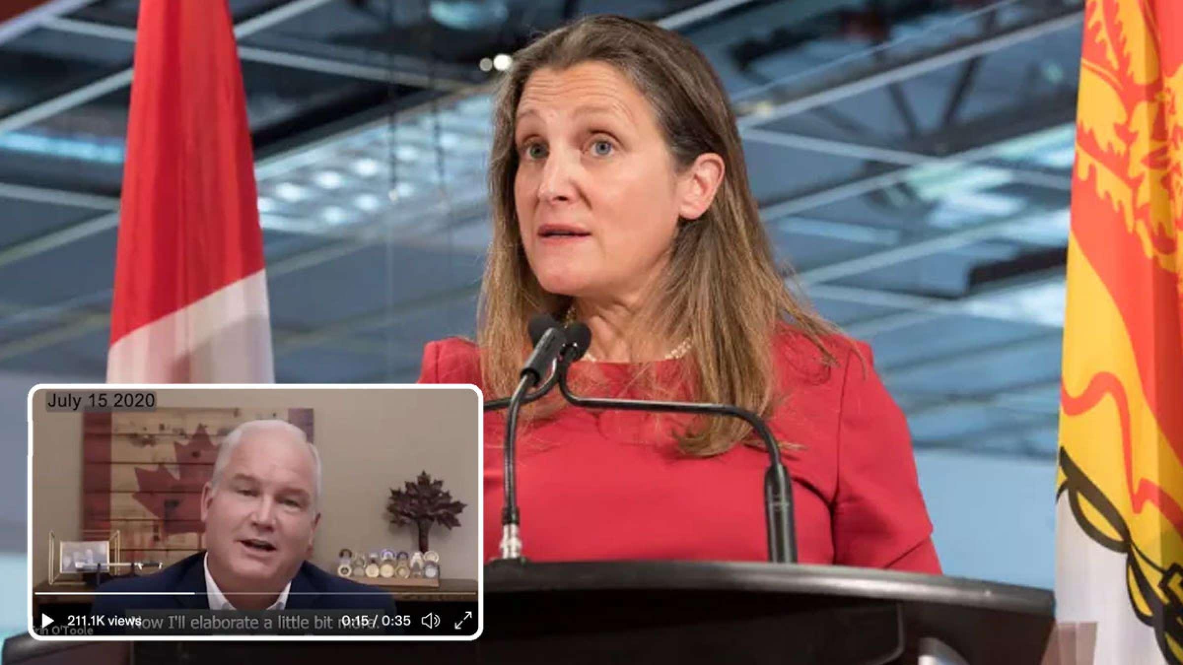 خبر-کانادا-جنگ-سیاسیون-یا-رسانه-ای-توئیتر-ویدئو-فریلند-را-برچسب-دستکاری-شده-زد