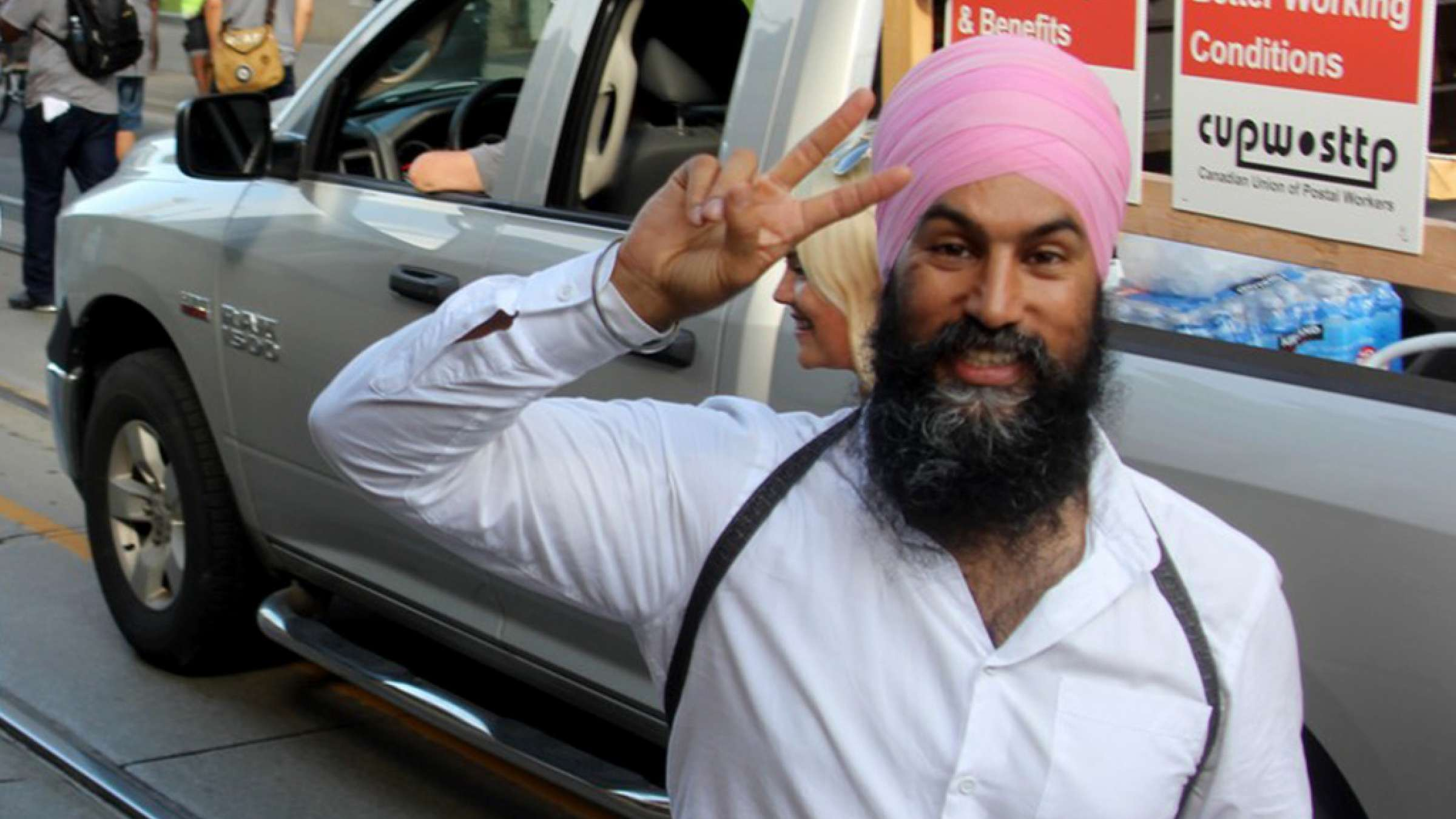 saeed-soltanpour-Labor-day-Toronto-2018-Jagmeet-Singh