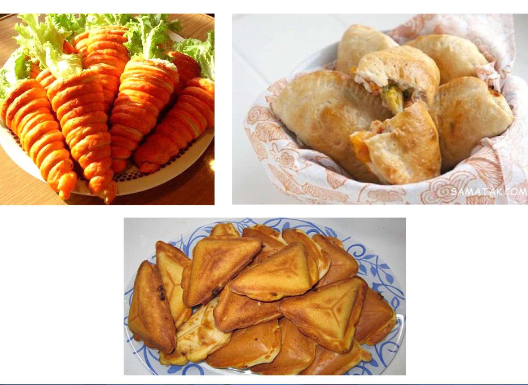 آشپزی-ترابی-سالاد-الویه-به-شکل-هویج-اسنک-مرغ-پیتزای-لقمهای