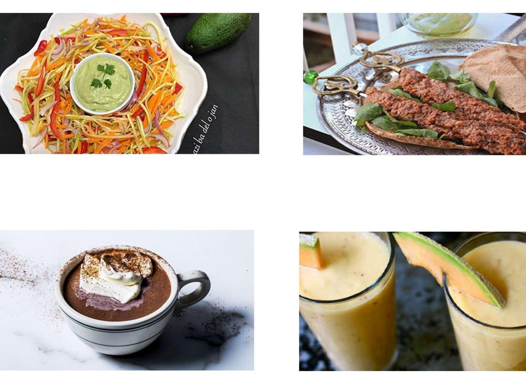 آشپزی-ترابی-سالاد-کدو-و-هویج-کباب-موهامورا-شیرطالبی-هاتچاکلت