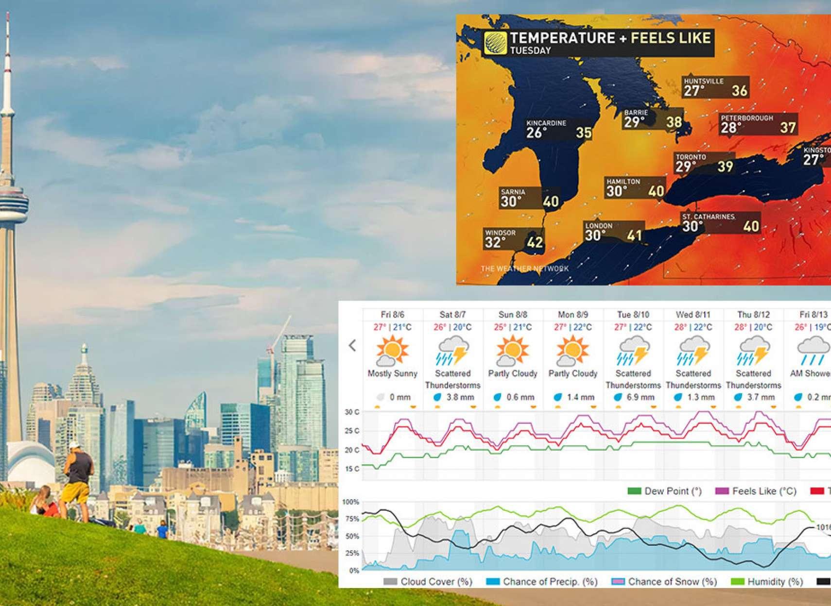 خبر-تورنتو-اعلان-وضعیت-هشدار-و-اضطراری-در-آخر-هفته-تورنتو-با-گرمای-حسی-۴۰-درجه-ای