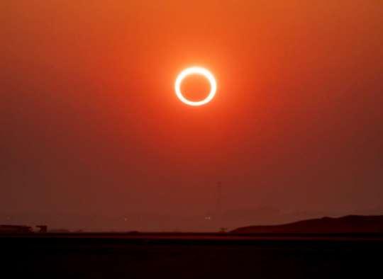 مقاله-علمی-خورشید-گرفتگی-حلقوی-۱۰-ژوئن-همزمان-با-طلوع-خورشید-اولین-کسوف-حلقوی-۲۰۲۱-است