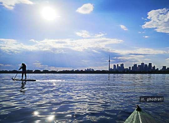 گرما، دریاچه، قایق، تورنتو
